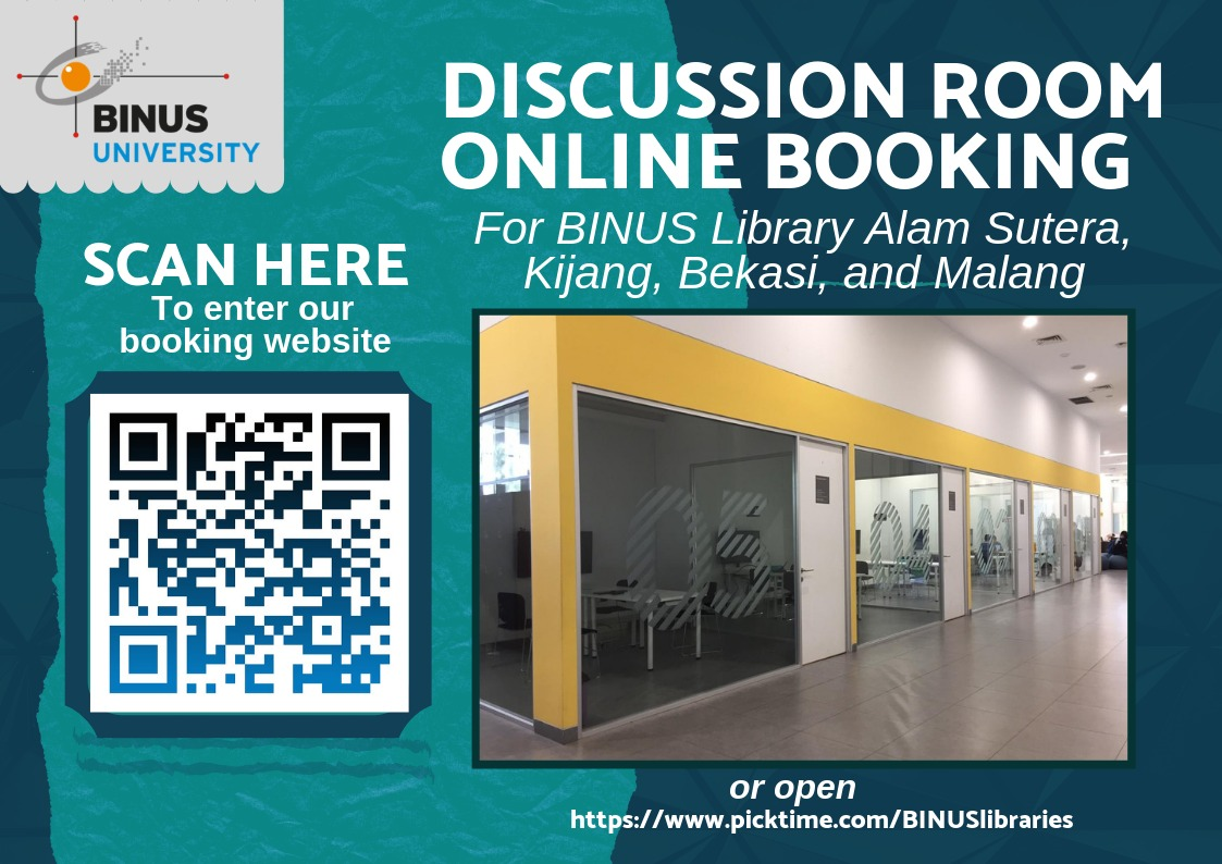Book an appointment with BINUS Library Discussion Rooms Online Booking